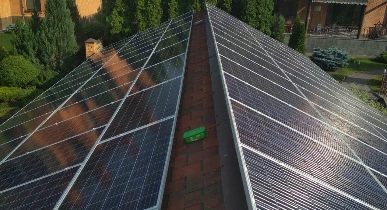 Сетевая солнечная электростанция с пиковой мощностью 30 кВт