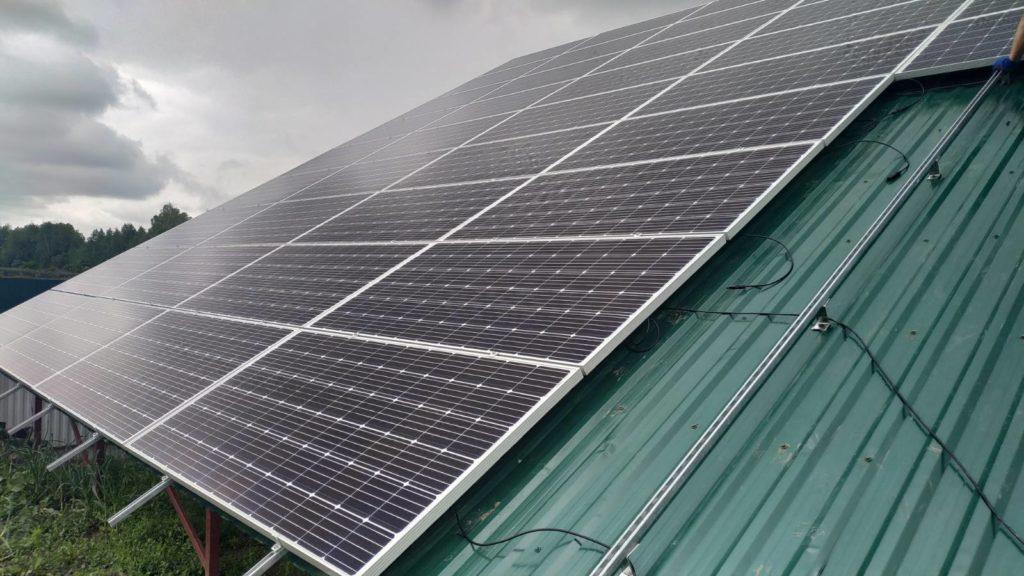 """Сетевая солнечная электростанция 30 кВт под ключ для продажи генерируемой электроэнергии в сеть по """"Зелёному тарифу""""."""